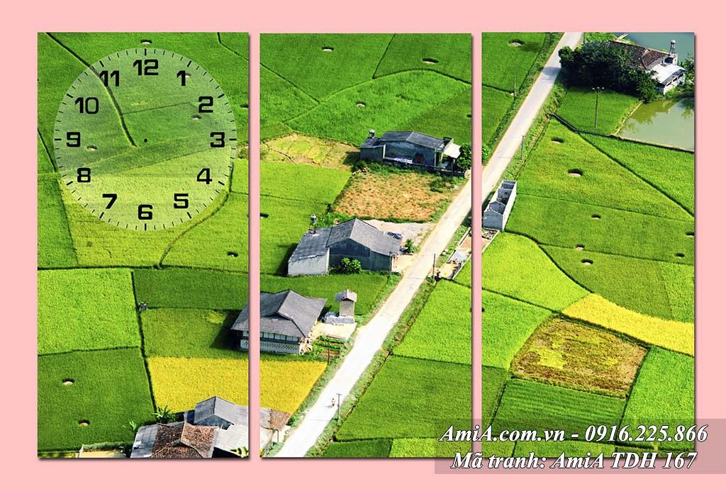 AmiA 167 - Tranh quê hương cánh đồng quê Việt Nam