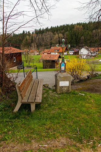 Wayside cross near Maria Steinbach
