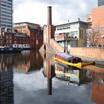 Sunken Narrowboat Gas Street Basin