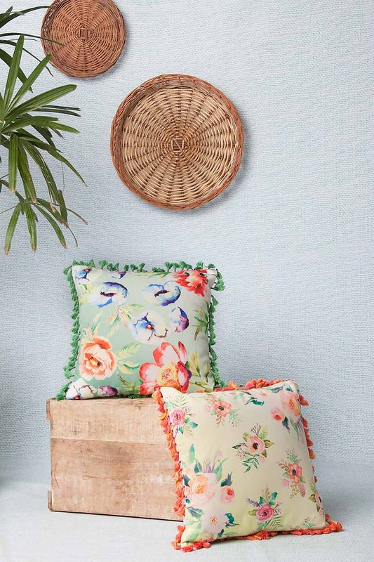 floral fabric cushion cover for summer