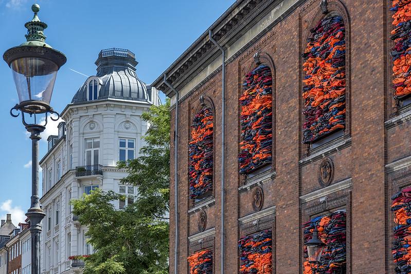 Ai Weiwei's Soleil Levant at Copenhagen's Nyhavn 2017
