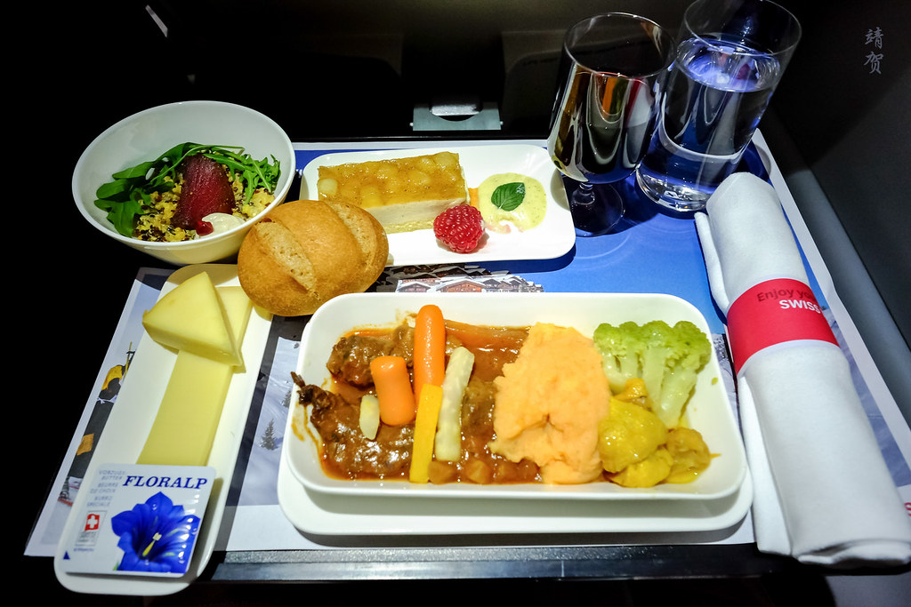 Beef goulash inflight meal set