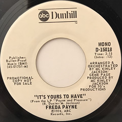 FREDA PAYNE:IT'S YOURS TO HAVE(LABEL SIDE-B)