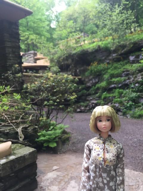 "Momoko visits the Frank Lloyd Wright House ""Falling Water"" #fallingwater #franklloydwright #momokodoll #momoko #2018"