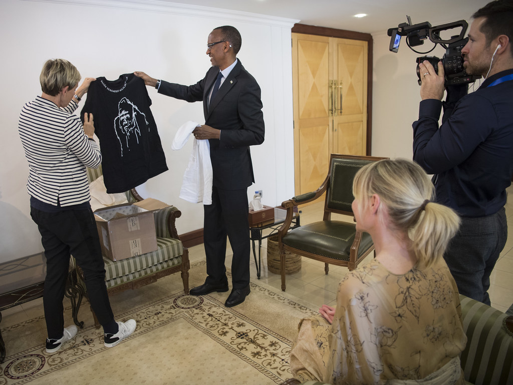 President Kagame meets with Ellen DeGeneres and Portia De Rossi | Kigali, 29 May 2018