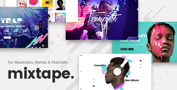 Mixtape v1.3 – A Fresh Music Theme for Artists, Bands, and Festivals