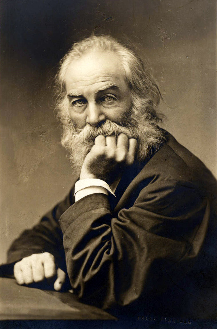 Photo of Walt Whitman, circa 1869. The caption reads:
