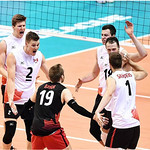 Gord Perrin and Brad Gunter vs USA (FIVB photo)