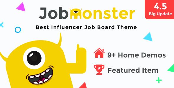 Jobmonster v4.5.2.1 - Job Board WordPress Theme