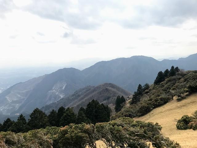 入道ヶ岳 山頂から野登山