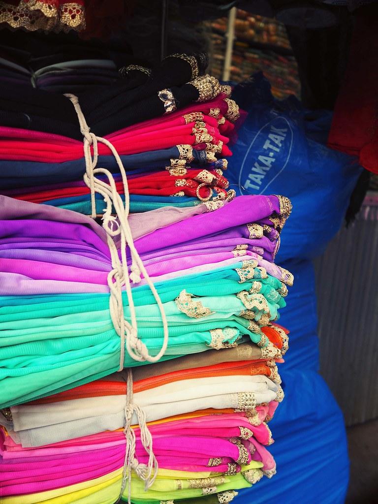 Pastel mint pink lilac scarves mumbai market_effected