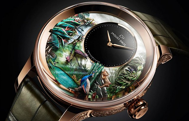 Jaquet Droz Tropical Bird Repeater Watch - Closeup