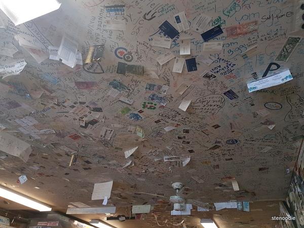 Bullocks Bistro ceiling