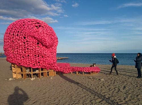 Pussy Hat (2) #toronto #winterstations #beaches #woodbinebeach #pussyhat #publicart #latergram