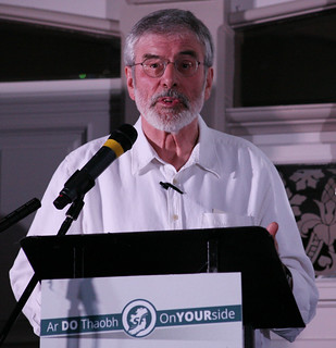 "Gerry Adams TD speaking at Sinn Féin's event ""From Civil Rights to the Good Friday Agreement and beyond"" to mark the 20th Anniversary of the Good Friday Agreement."
