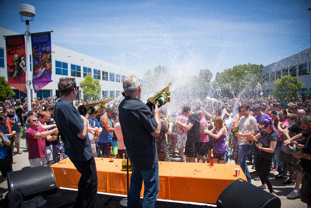 Overwatch Launch Champagne Toast