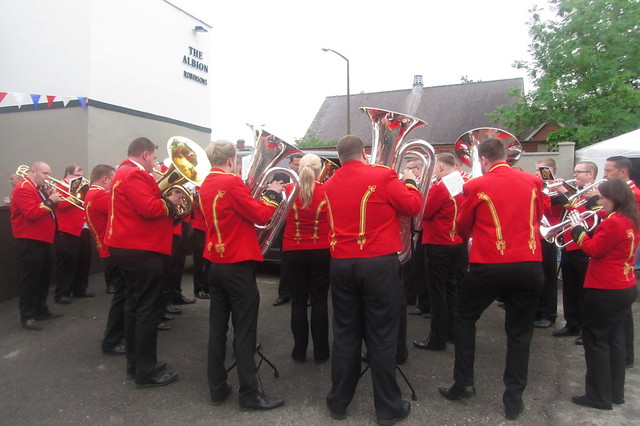 Foden's Band, Whit Friday 2018 Brass Band Contest, Albion Hotel, Dukinfield