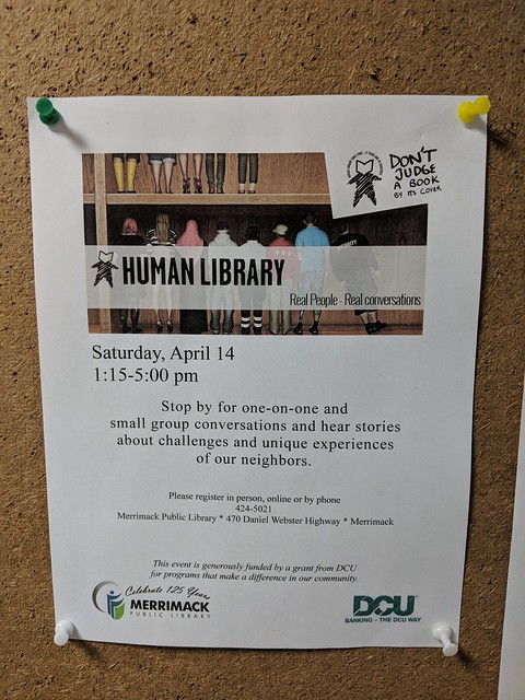 Human Library event @ Merrimack Public Library