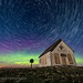 The Liberty Schoolhouse with Star Trails