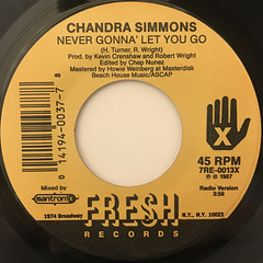 CHANDRA SIMMONS:NEVER GONNA LET YOU GO(LABEL SIDE-A)