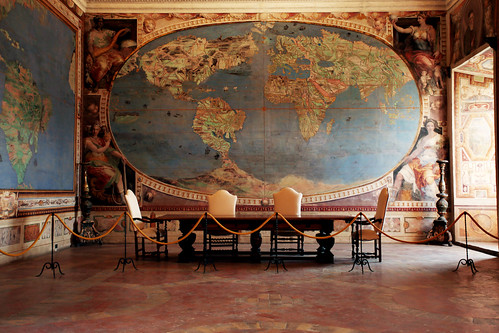 Palazzo Farnese: sala del mappamondo
