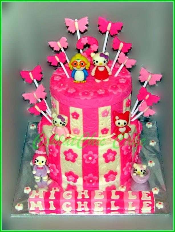 Cake Hello Kitty Pororo MICHELLE 15 /12 cm