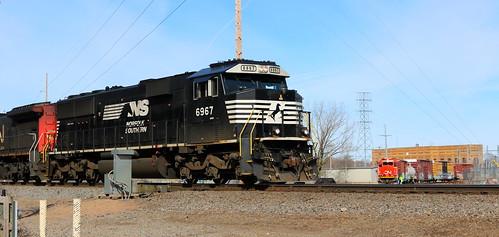 NS 6967, GTW 5836, Tamarac, Stevens Point, 25 Mar 18
