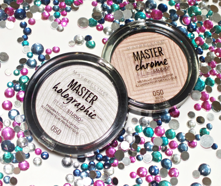 maybelline master holographic chrome highlighters