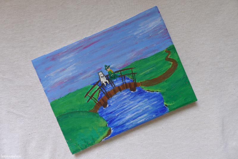 moomin acrylic handmade painting