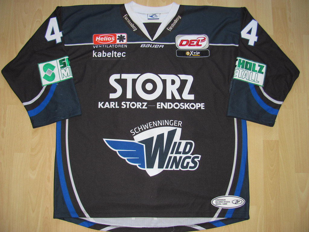 SERC Wild Wings 2015 - 2016 alternate Game Worn Jersey 889749b98