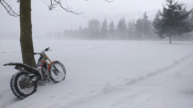 Winter stuff and trials bike