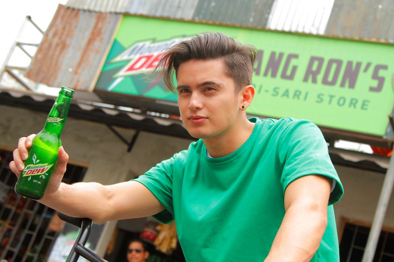 James Reid enjoys the new Mountain Dew Idol