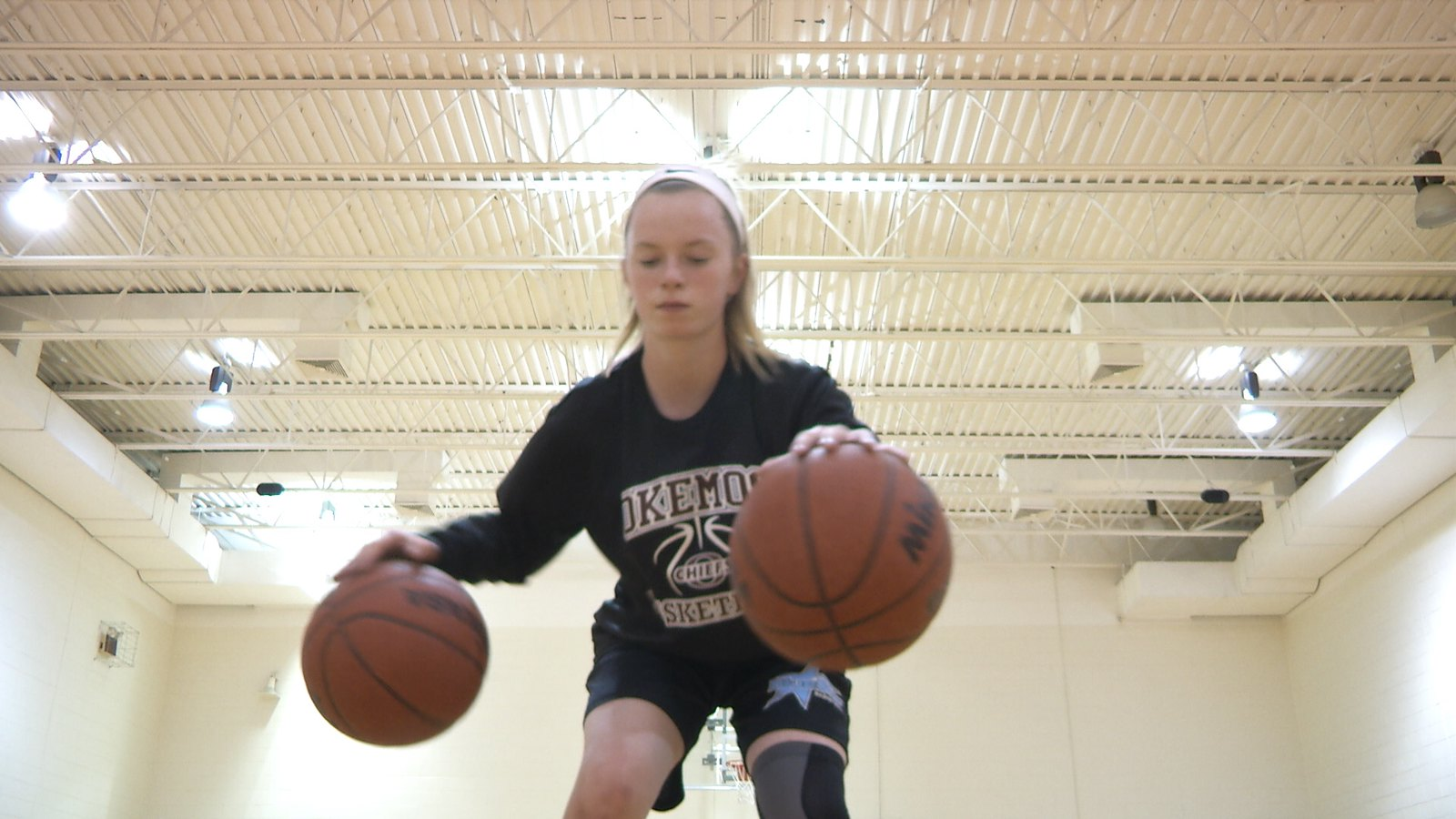 Okemos 8th grader competes in the 2018 Elite Girls Basketball All-American Game