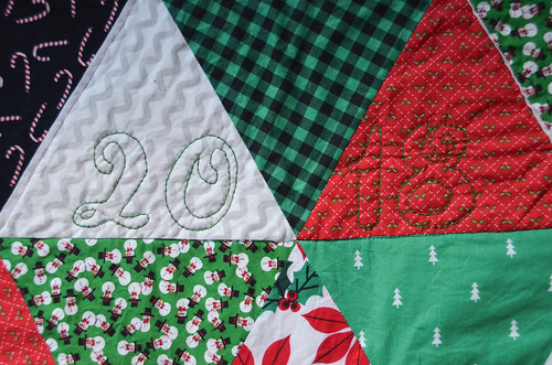 Personalizing a Quilt with Embroidery (or just hand quilting)