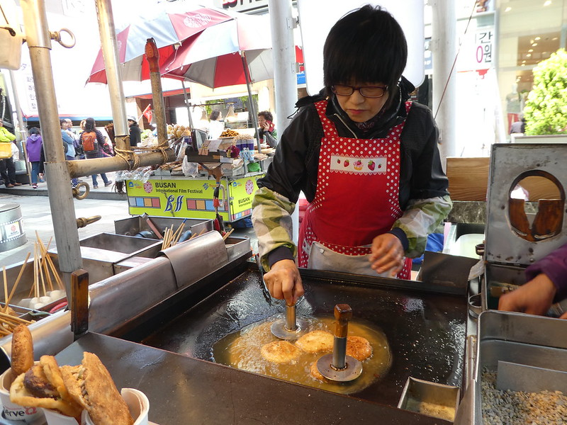 Hotteok Pancakes in BIFF Square, Nampo
