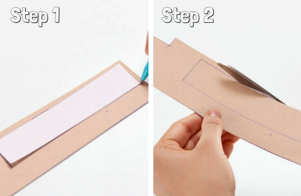 DIY Binder Book Mark Steps 1 2