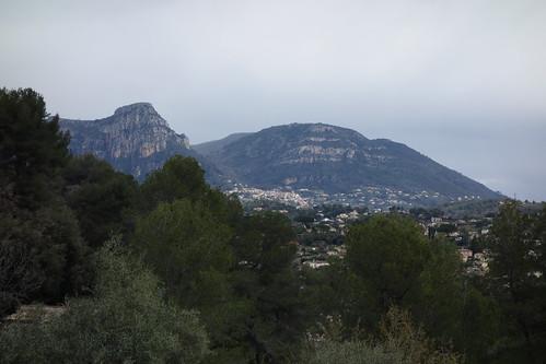 Vence as seen from Saint-Paul-de-Vence - Côte d'Azur, France