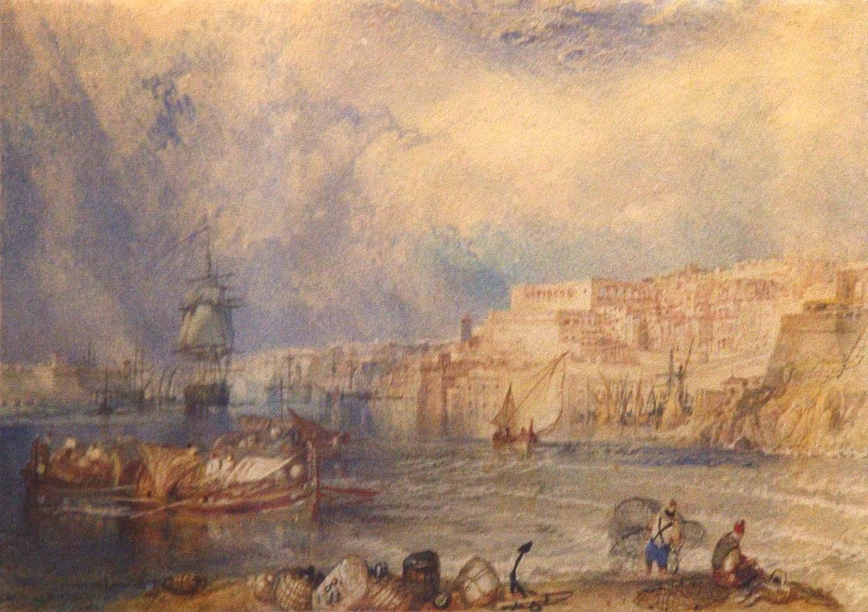 J.M.V. Turner's depiction of the Grand Harbour, National Museum of Fine Arts.