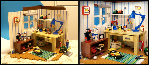 "Behind the scenes of  my MOC ""Kid´s room from the 80s"""