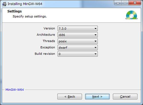 Installing Mingw-w64 (2)