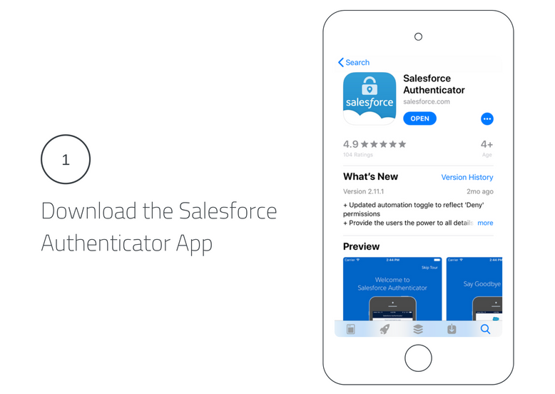 Download the Salesforce Authenticator App