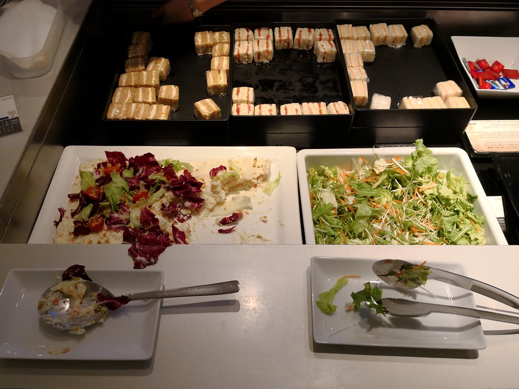 Salad in the buffet