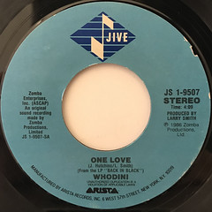 WHODINI:ONE LOVE(LABEL SIDE-A)
