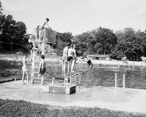 Swimming at Sprout Brook_1960s