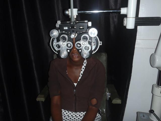 Cynthia undergoing eye examination (2)
