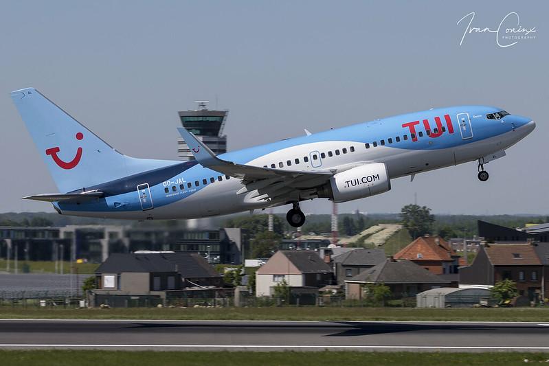 Boeing 737-7K2 – TUI Fly Belgium – OO-JAL – Brussels Airport (BRU EBBR) – 2018 05 07 – Takeoff RWY 07R – 01 – Copyright © 2018 Ivan Coninx