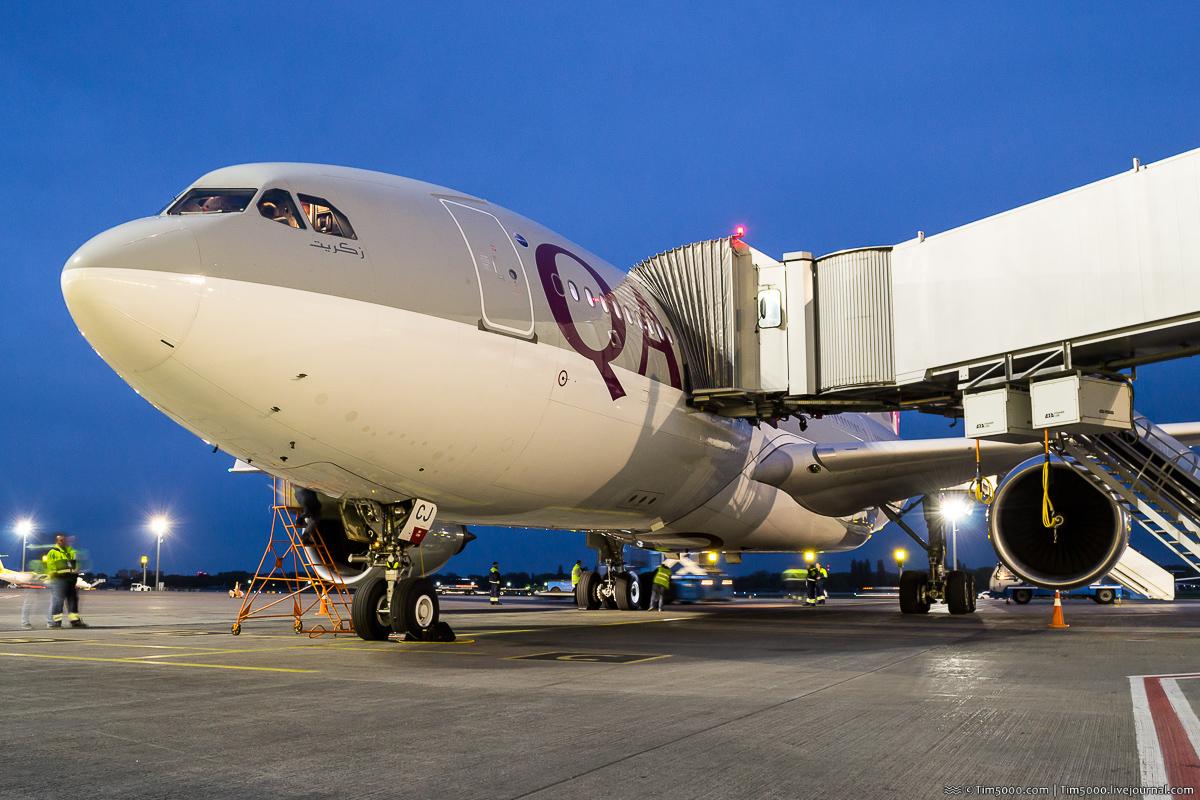 Qatar A330 в Борисполе!