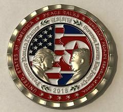Trump-Kim challenge coin obverse