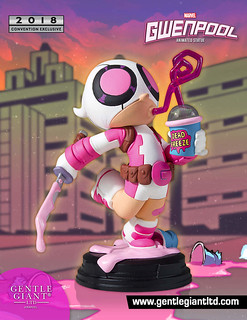 這座雕像有股甜甜的味道~ Gentle Giant Marvel Comics【關侍】Gwenpool Animated Statue