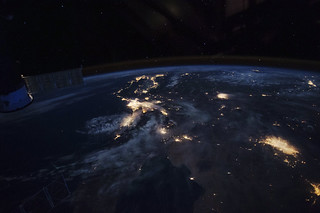 Beautiful image of West coast of California before dawn. Original from NASA . Digitally enhanced by rawpixel.
